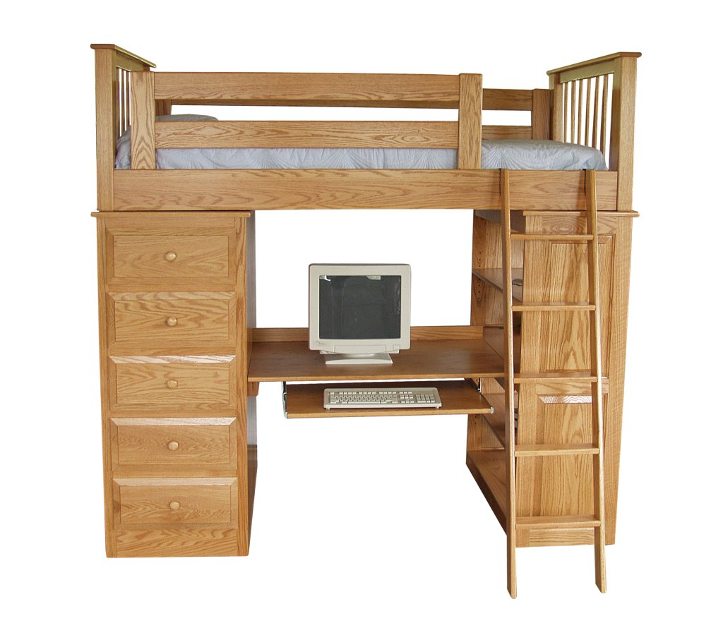 1000 Images About Loft Bed With Desk Underneath On Pinterest